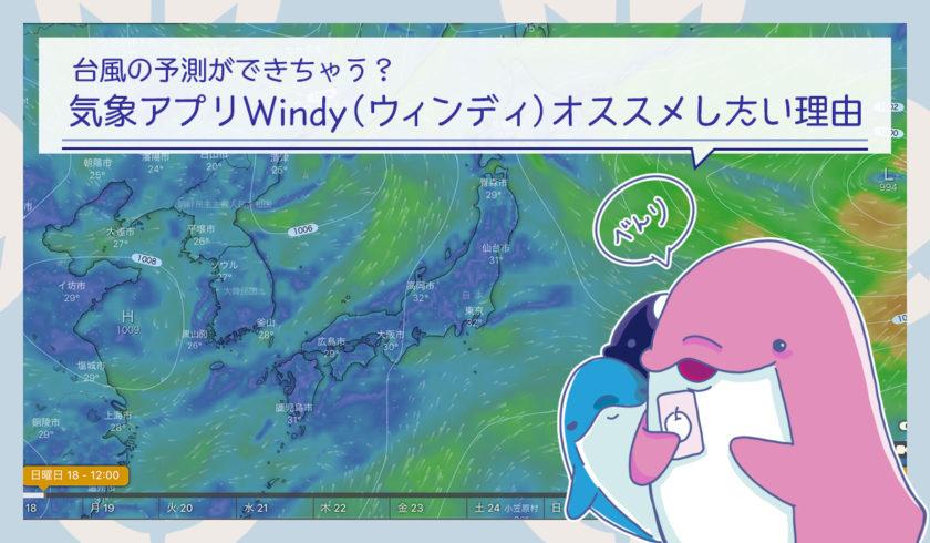 気象アプリWindy(ウィンディ)で台風の予測ができちゃう?オススメしたい理由を紹介します